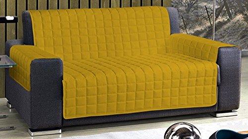 Copridivano o copripoltrona posti 2 due (120 125 cm) 3 tre (170 175 cm) 4 quattro (230 235 cm) (giallo, divano 3 posti 170/175)