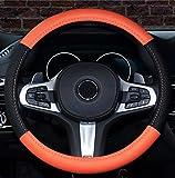 Istn 2018 Neuwagen Lenkradbezug Komfort Haltbarkeit Sicherheit Fall (14,5 '' - 15 '', Orange)