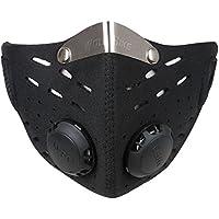 Ewolee Masque de Protection Respiratoire, Masque anti-Pollution Thermique coupe-vent anti-poussière pour Sport Moto Ski Vélo Activités en Plein Air, Avec PM2.5 Filtre de Cartouche