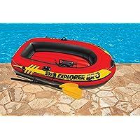 Canoa hinchable 2 pers.c/bomba y remos