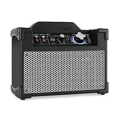 DJ-Tech Mini Cube • aktive PA Box • PA-Aktiv-Lautsprecher • 13 Watt Peak-Leistung • 10 cm (4'')-Fullrange Subwoofer • 2,5 cm (1'')-Hochtöner • Frequenzbereich: 20 Hz - 20 kHz • Bluetooth mit Reichweite von ca. 10 m • LED-Beleuchtung • Akku • (Best Tech-weihnachtsgeschenke 2016)