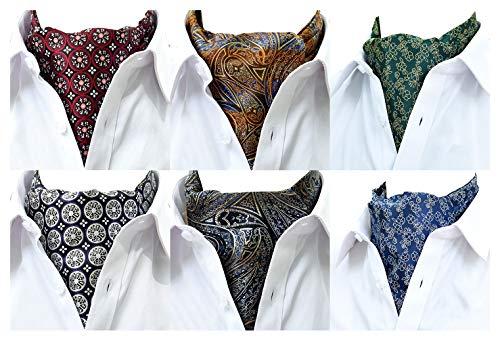 MOHSLEE Herren Halstuch mit Paisleymuster, Schal, Krawatte, Krawatten, Geschenk-Set von 6 Stück - Mehrfarbig - Einheitsgröße - Schal-geschenk-set