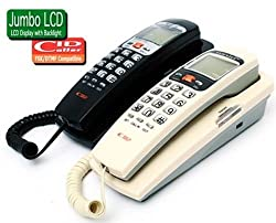 Glives Orientel KX-T555 CID Landline Caller ID Phone Telephone Corded Phone for Office and Home Purpose - Random Color