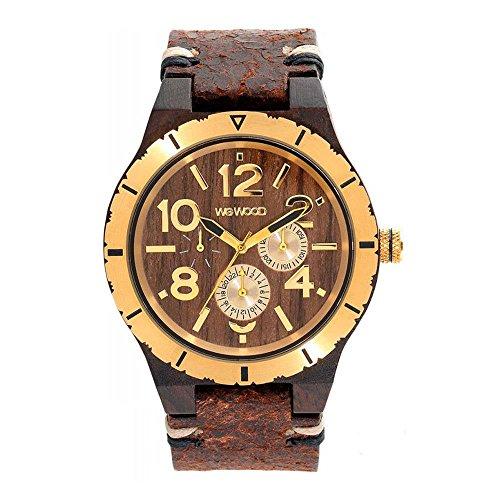 WEWOOD Reloj Analógico para Hombre de Cuarzo con Correa en Cuero WW59001