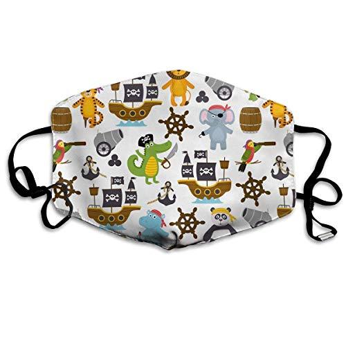 Lady Kostüm Pirate Eine - Vbnbvn Mundmaske,Wiederverwendbar Anti Staub Schutzhülle, Funny Pirates Animals Cotton Mouth Masks,Anti-dust Face Mask for Women and Men