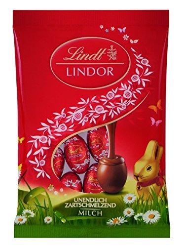 Lindt Lindor Mini-Eier, Beutel, Vollmilch, 100 g