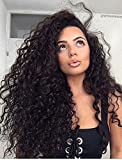 Ugeat Clip in Human Cheveux Deep Wave Extensions Reel Human Cheveux 2# Darkest Brown Clip Extensions Human Cheveux Full Head