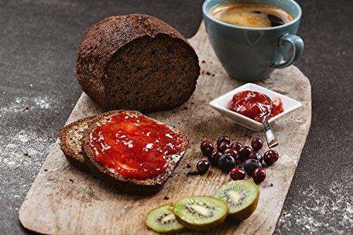 Kraftpaket Carb Free Low carb | mit Quark und Leinsaat | Sieht aus wie Brot, schmeckt wie Brot, ist kein Brot