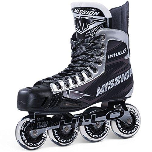 a0ebb826f97 Mission Inhaler NLS 06 Inline Roller Hockey Skates - Senior (Black