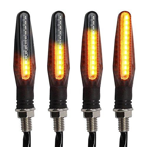 Gire las luces de señal Kinstecks 4 PCS Indicadores de la motocicleta...