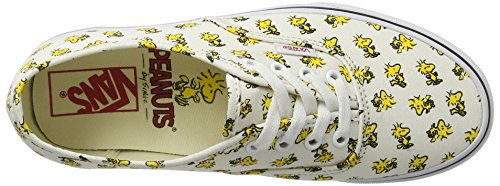 Vans Peanuts Authentic, Scarpe Running Donna Giallo (Woodstock/bone Peanuts)
