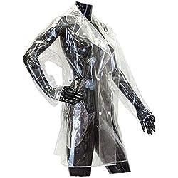 City Outlet - Abrigo Impermeable - Gabardina - Manga Larga - para Mujer Marfil Transparente S