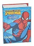 Unbekannt Fotoalbum Spiderman incl. Name - Gebunden - für 100 Bilder 15 cm * 10 cm - Photoalbum Kinderalbum - für Kinder Jungen Spider-Man Spinne Held