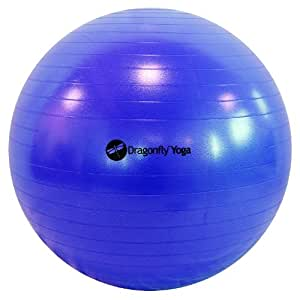 Dragonfly 75cm Premium Anti-Burst Yoga Ball (Blue)