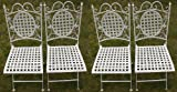 Best Équipement pour Chaises pliantes - Maribelle - Lot de 4 chaises en métal Review