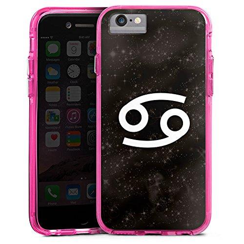 Apple iPhone 6 Plus Bumper Hülle Bumper Case Glitzer Hülle Sternzeichen Krebs Astrologie Bumper Case transparent pink