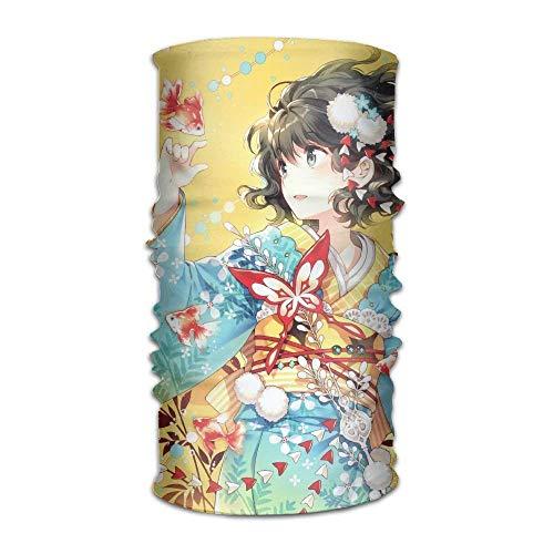 Anime Girl Headwear Bandanas Seamless Men Women Headwear 12-in-1 Stretchable Magic Scarf ()
