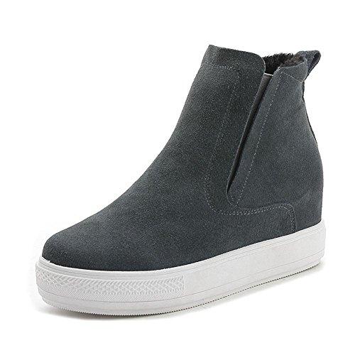 Donna caviglia alto stivali scarpe cadere inverno nero macchia Spessore inferiore Nike Dunk Sky Ciao partito lavoro Gray