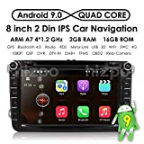 HIZPO 8' Android 8.1 HD Digital Multi-touch Screen 1080P Video Car in Dash GPS DVD Player fit for VW Volkswagen / Seat / Skoda