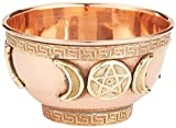 Triple Moon Pentacle Copper Incense Burner 3 by Mickey Thompson