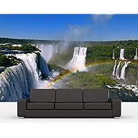"""Bilderdepot24 Autoadhesivo Fotomural """"Cataratas de Iguazú con el arco iris"""" 155x100 cm - papel pintado - Fototapete - la fabricación made in Germany!"""