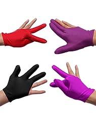 Guante billar de billar Tres dedos del guante
