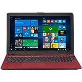 "ASUS R541NA-RB21T-RD Vivo Book Touch HD Laptop, Intel Pentium N4200 Quad Core Processor, 4GB DDR3 RAM, 500GB HDD, Windows 10, 15.6"", Red"