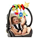 ODN Kinderwagen Baby Plueschtiere Kleinkindspielzeug Spielzeugauto Drehmaschine haengenden Niedlichen kleine Spielzeug