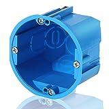 1 Stück 1er Hohlwanddose mehrfach massiv blau Gerätedose Schalterdose Einbau mit FLAMMSCHUTZ