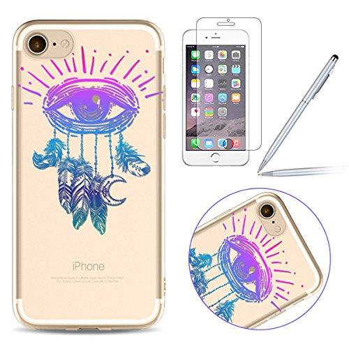 iPhone 7 Plus Silikon Hülle,iPhone 7 Plus Case,iPhone 7 Plus Schutz - Felfy Ultra Dünnen Weiche Gel Elegant TPU Back Case Cover Schutz Zurück Handy Tasche Etui Hülle Schutzhülle Crystal Clear TPU Case #07
