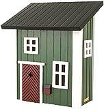 Wildlife Garden Postkasten/Grün - Mail Cottage Green - Holz, Deckel aus Stahl - 320 x 210 x 390 mm
