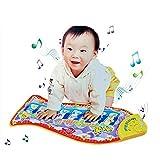 ZTXY Alfombra de música para bebés Educación de la Primera Infancia Peces para bebés Piano táctil Estera de Juegos de Piano Adecuada para bebés de más de 3 Meses de Edad