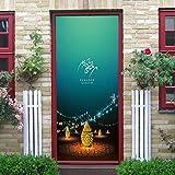 Tür Aufkleber Urlaub Feiern Straßenlaternen Schlafzimmer Wohnzimmer Aussicht Europäischen Stil Wandaufklebern Wasserdichte Applique 3D Aus Qt XINGMU