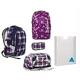 Satch Sleek - Set 5tlg - Berry Carry - Schulrucksack + Sporttasche + Schlamperbox + Regenhülle + Heftebox