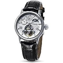 Time100 W60011M.01A - Orologio da polso, pelle, colore: nero