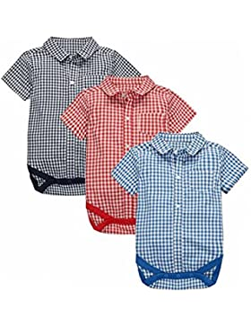 CuteOn 3 pack Manica corta Plaid