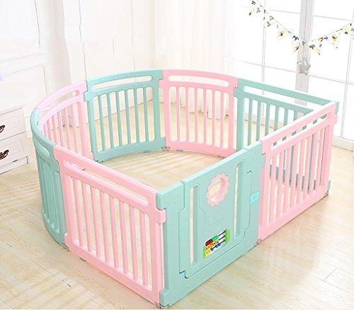 8 Panel Kunststoff Baby Laufstall Mit Aktivität Panel Faltbare Baby Kinder Spielen Pens Raumteiler Lernspielzeug, 158 * 150 cm, (4 runde...