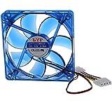 Ventilador de refrigeracion - TOOGOO(R)DC 12V 4 Pines 4 azul LED PC Ventilador de refrigeracion de caja de ordenador PC 120mm x 25mm