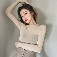 GAOLIM Autumn Solid Color Primer Shirt Long Sleeve Back Tight T-Shirt Shirt Women