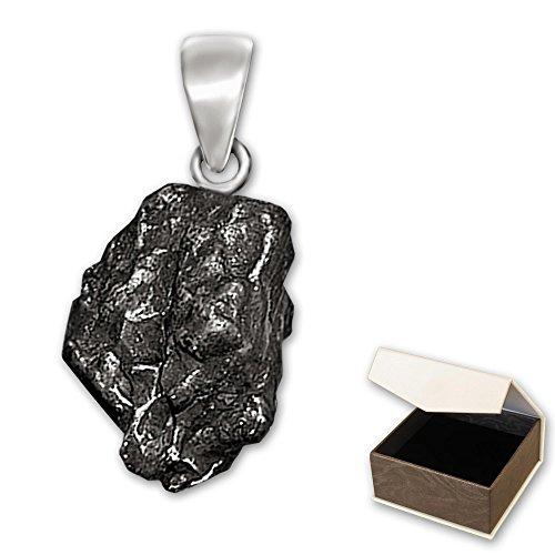 clever-schmuck-pendentif-meteorite-en-veritable-etoile-filante-boucle-en-argent-925-