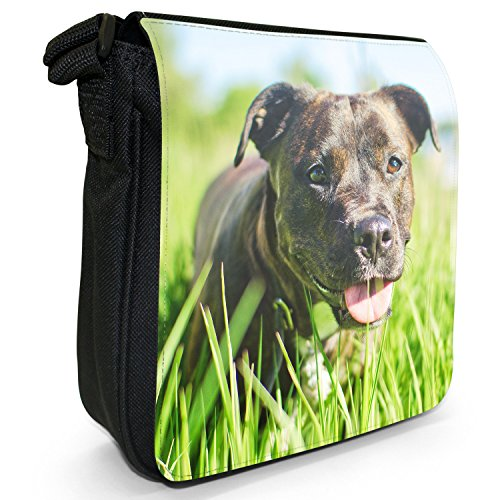 Rottweiler cane piccolo nero Tela Borsa a tracolla, taglia S Rottweiler Dog In Long Grass