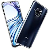 Huawei Mate 20 Pro Anti-Burst KING KONG Armor Case Crystal Clear With Transparent Hard Plastic Back Plate and Soft TPU Gel Bu