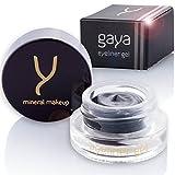 Gaya Cosmetics Veganer Gel Eyeliner - Eyeliner Waterproof Professionelle langanhaltende Formel für die definierte Kontur (EY1 Schwarz)