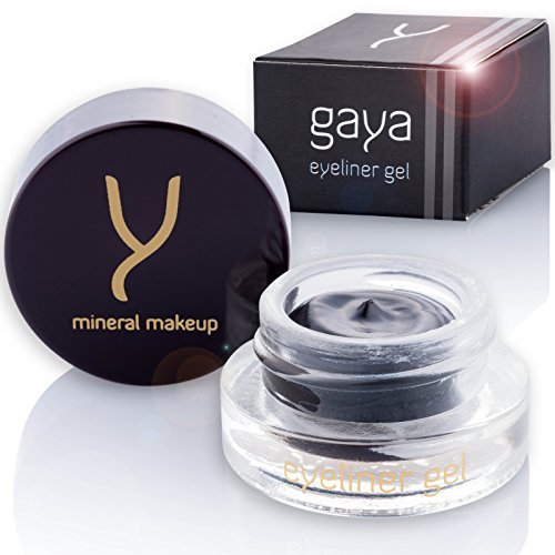 Gel Eyeliner Vegan Advanced Formula - EY1 Black Long Lasting Eye Liner for the Perfect Defined Line Line - No Smudging or Transferring, No Crooked Lines and Uneven Edges - In a 5gr Combo Size Jar