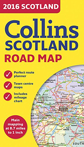 2016 Collins Map of Scotland Cover Image