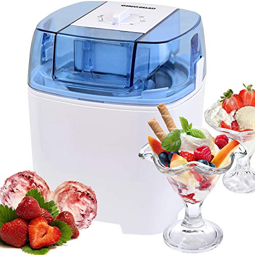 Gino gelati ic-30w-a - macchina 4 in 1 per gelato, frozen yogurt e frappè, con glacette