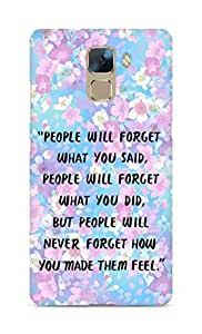 AMEZ people will forget what you said did Back Cover For Huawei Honor 7