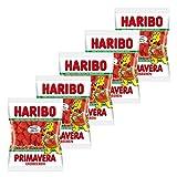 Haribo Erdbeeren Primavera, 5er Pack, Gummibärchen, Weingummi, Fruchtgummi, Im Beutel, Tüte