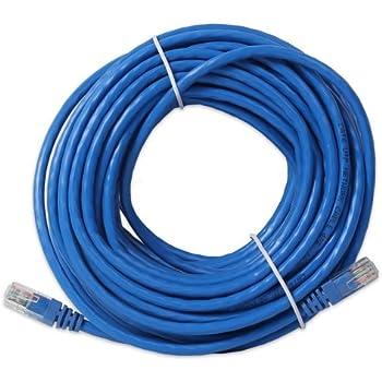 Link-e ® : Cable reseau bleu ethernet RJ45 20m CAT.6 qualité pro, connexion internet Box, TV, PC...