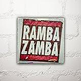 Hamburg auf Holz - Ramba Zamba - 10x10 cm - Holzbild, Wandbild, Landhausstil, Shabby Chic, Vintage, Bilder, Motive, Hamburg, Geschenkidee, Souvenir, Deko